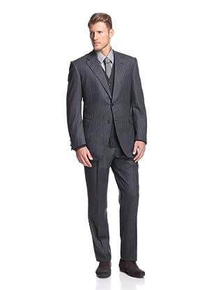 Oxxford Men's Pinstripe Suit (Blue)