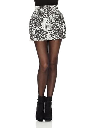 Rare London Falda Leopard (Plata)