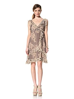 Hale Bob Women's Ruffle Wrap Dress