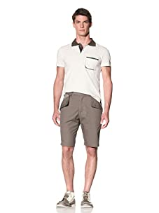 D by D Men's Contrast Polo (Ivory)