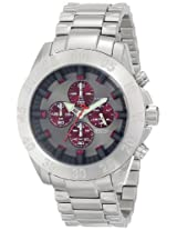 Android Tunnelgraph AD693BR 50MM Chronograph Analog Burgundy Dial Men's S.Seel Band Watch