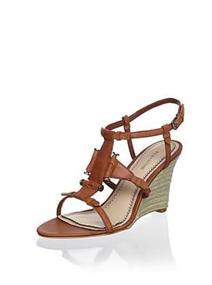 Pour La Victoire Women's Betsy Wedge Sandal (Cognac)