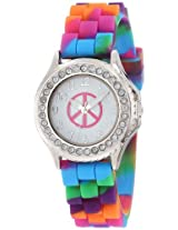 Frenzy Kids' FR778 Peace With Rhinestones Bezel Watch