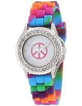 Frenzy Kids' FR778 Peace With Rhinestones Bezel Watch