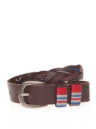 Pepe Jeans London Cinturón Davis Belt (Rojo Oscuro)
