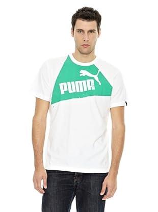 Puma Camiseta Shape Series (Blanco / Verde)