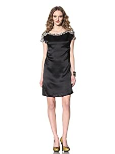 Just Cavalli Women's Charmeuse Shift Dress (Black)