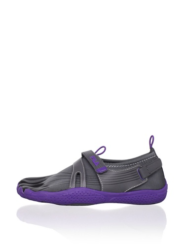 Fila Kid's Skele-Toes EZ Slide Shoe (Little Kid/Big Kid) (Pewter/Black/Royal Purple)