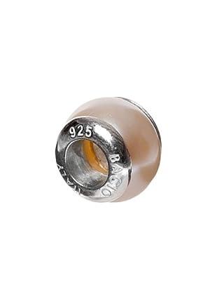 Bacio Abalorio de Plata de Ley 925  Perla Rosada