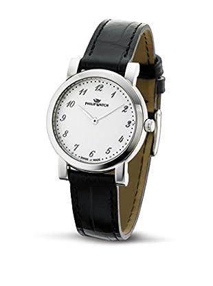 Philip Watch Quarzuhr Slim schwarz 34  mm