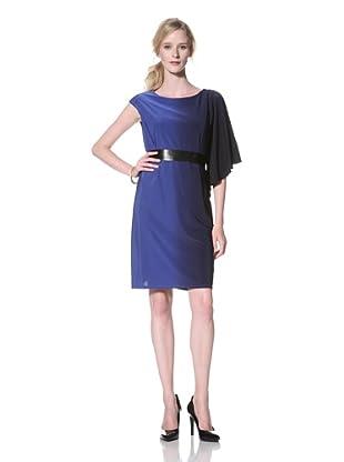 Chetta B Women's One-Shoulder Ombre Dress (Black/Royal)