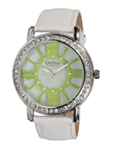 Exotica Fashions Ladies Watch - EF-70-Green-White-LD