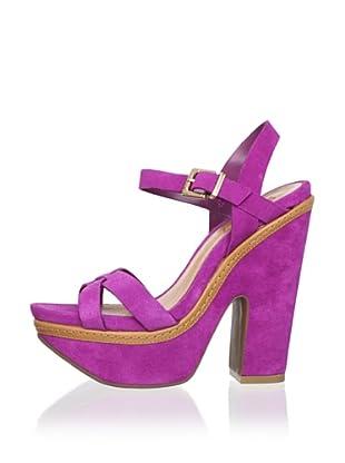 Schutz Women's Crisscross Platform Sandal (Magenta)