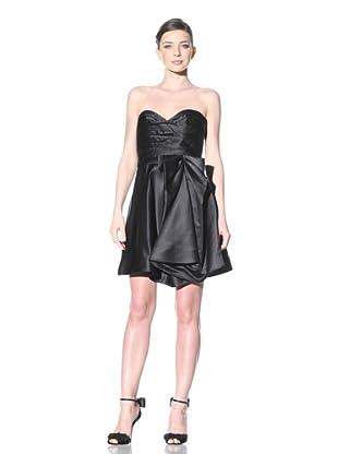 ABS by Allen Schwartz Women's Strapless Bow Dress (Black)