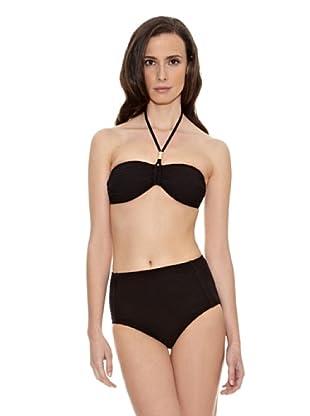 Cortefiel Bikini Bandeau Shape Estruct 01 (Negro)