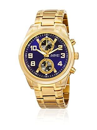 August Steiner Uhr mit japanischem Quarzuhrwerk  goldfarben 54 mm