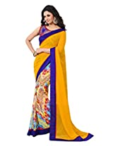 Rajnandini Georgette Saree (Joplsalsrngi205 _Multi-Coloured)