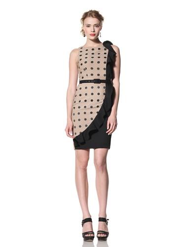 Eva Franco Women's Goya Sleeveless Dress with Ruffle (Dakota Dot)