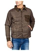Campus Sutra Brown Mens Jacket(AW15_JK_M_P4_OL_XL)
