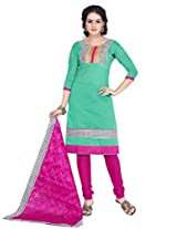 Ritiriwaz Apple Green Printed Suit with matching duppata WFI3802