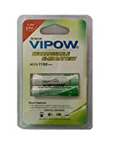 Vipow Ni-Mh AAA Rechargeable Battery 1100mah 1.2V, 1 pack of 2 Pieces