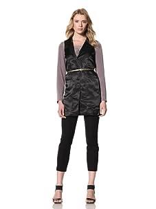 Twinkle by Wenlan Women's Messenger Vest (Paradise Black)