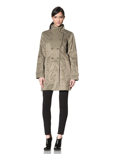 Rainforest Women's Double Breasted Trench Coat (Sage)