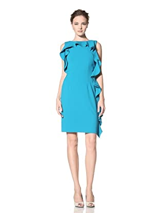 Calvin Klein Women's Sleeveless Dress with Ruffle Detail (Lagoon)