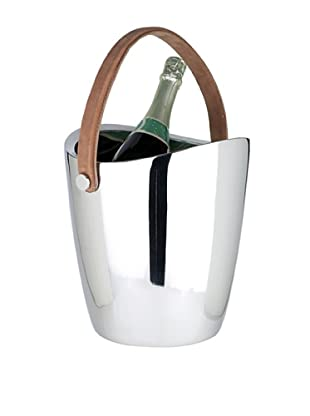Sidney Marcus Boca Champagne Cooler with Leather Handle, Silver