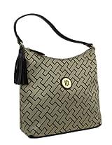 Tommy Hilfiger Tom-1940 Shoulder Bag For Women {Gold and Brown, Leather}
