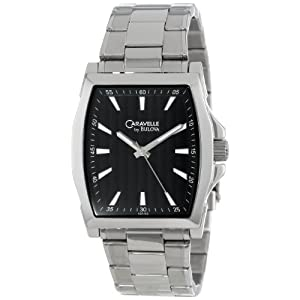 Caravelle by Bulova Men's 43A103 Classic Stainless Steel Watch with Black Dial