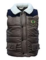 Gron Stockholm Boys' Jacket (GW-0302_Brown_9-10 Years)