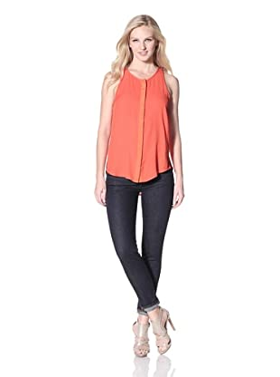 Patterson J. Kincaid Women's Solid  Hutchinson Shirt Tail Tank (Orange)