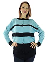 AGB Women's Pullover Sweater X-Large Blue