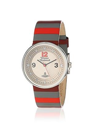 Vivienne Westwood Unisex VV020GY Spirit Grey/Striped Leather Watch