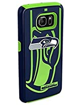 Forever Collectibles - Licensed NFL Cell Phone Case for Samsung Galaxy S6 - Retail Packaging - Seattle Seahawks