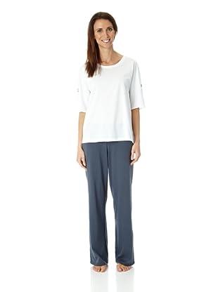 Hanro Shirt 3/4 Arm Holiday (Weiß)