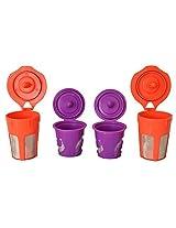 EcoSave Refillable/Reusable K Carafe And K-Cups Filter Combo Set for Keurig 2.0 - K200, K300, K400, K500 Series