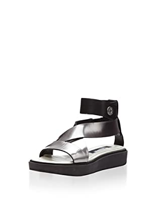 Jil Sander Navy Women's Flat Platform Sandal (Mirror/Suola Grigia + Nera)