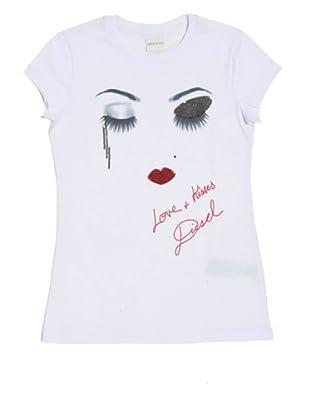 Diesel Camiseta Tabefj (Blanco)