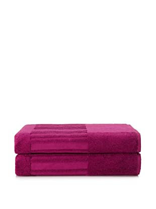 Garnier-Thiebaut Set of 2 Bath Sheets (Fuchsia)