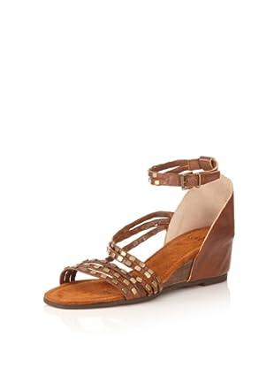 Kooba Women's Lola Studded Ankle-Strap Sandal (Luggage)