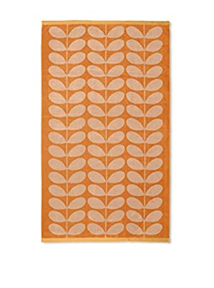 Orla Kiely Stem Jacquard Bath Sheet, Tea Rose/Orange