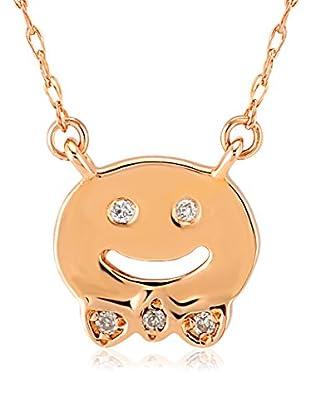 Divas Diamond Halskette Diamond Gold Smiling Face