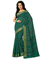 Orbymart Green Color Cotton Printed Saree - 55626866