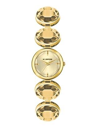 K&BROS 9161-3 / Reloj de Señora  con brazalete metálico dorado