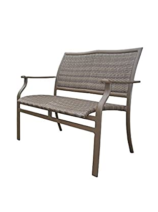 Panama Jack Island Cove Woven Stackable Loveseat, Espresso