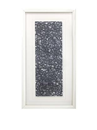 Star Creations Navy Ogura Lace & White Molding Shadowbox Art
