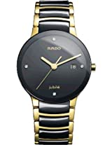 Rado Centrix Jubile Black Ceramic Mens Watch R30929712