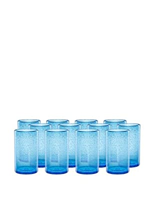 Artland Iris Set of 12 Highball Glasses, Turquoise